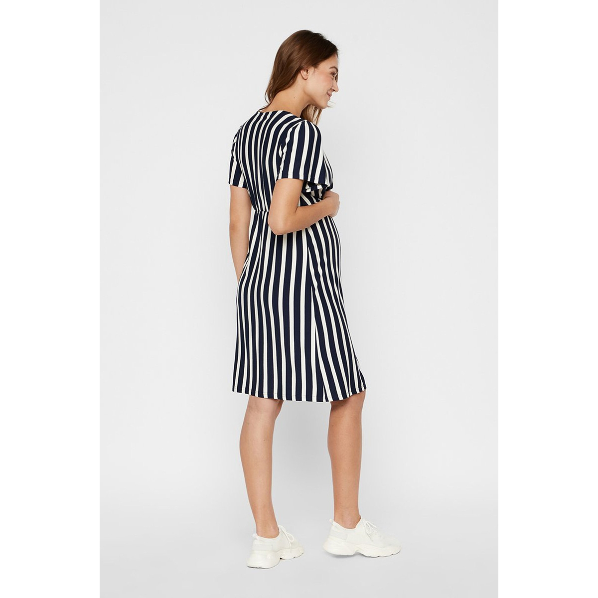mlnewbecky tess s/s jersey abk dres 20011226 mama-licious jurk navy  blazer