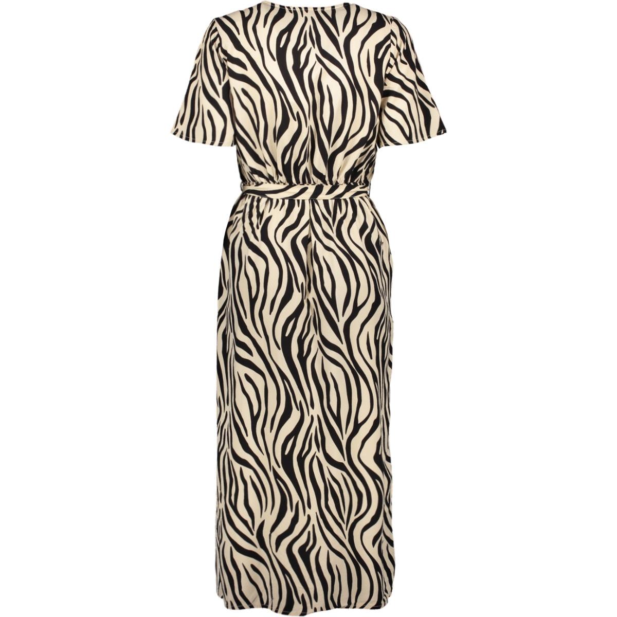 midi jurk met zebraprint p00282 garcia jurk 8832 sandshell