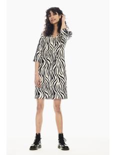 jurk met zebraprint p00285 garcia jurk 8832 sandshell