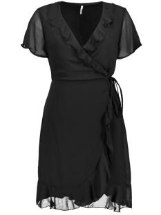 Only Jurk ONLTHYME LIFE  WRAP DRESS WVN 15205017 Black