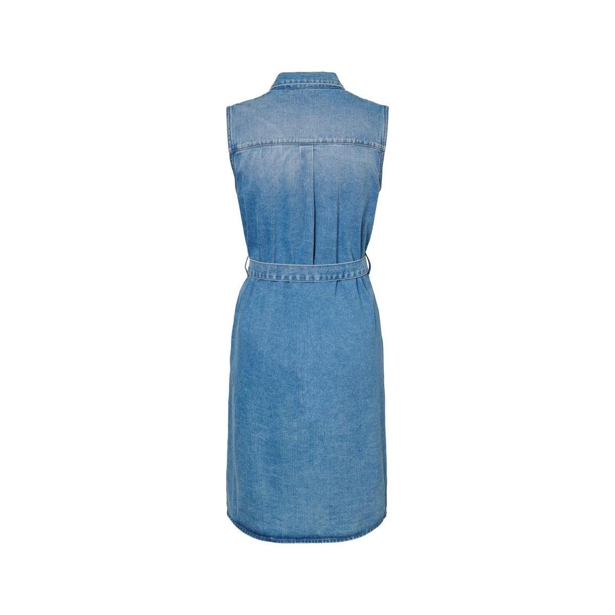nmmina s/l button dnm dress tz024mb 27011448 noisy may jurk medium blue denim
