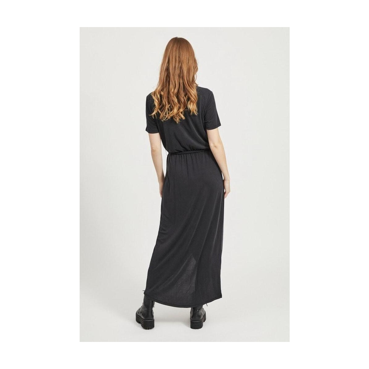 objannie nadia s/s dress noos 23031011 object jurk black
