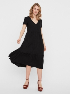 nmmarble s/s below knee dress bg 27012532 noisy may jurk black