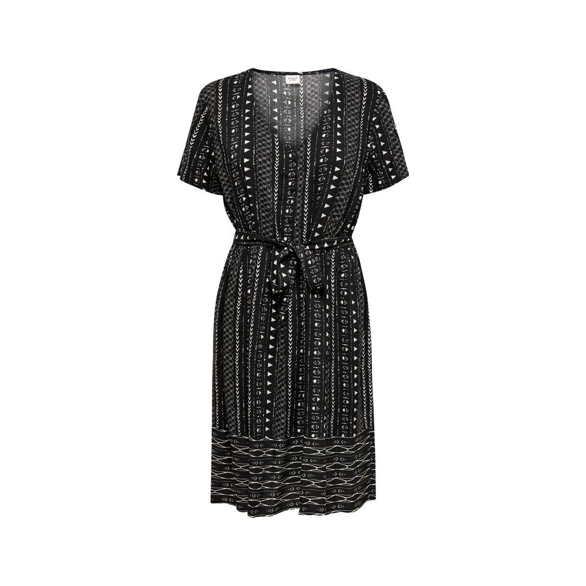 jdytiffany s/s dress wvn 15201668 jacqueline de yong jurk black/sandshell