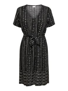 Jacqueline de Yong Jurk JDYTIFFANY S/S DRESS WVN 15201668 Black/SANDSHELL