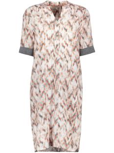 jurk met grafische stippen print 23001731 sandwich jurk 80074