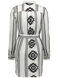 nmazra l/s shirt short dress bg 27011896 noisy may jurk black aop: white star