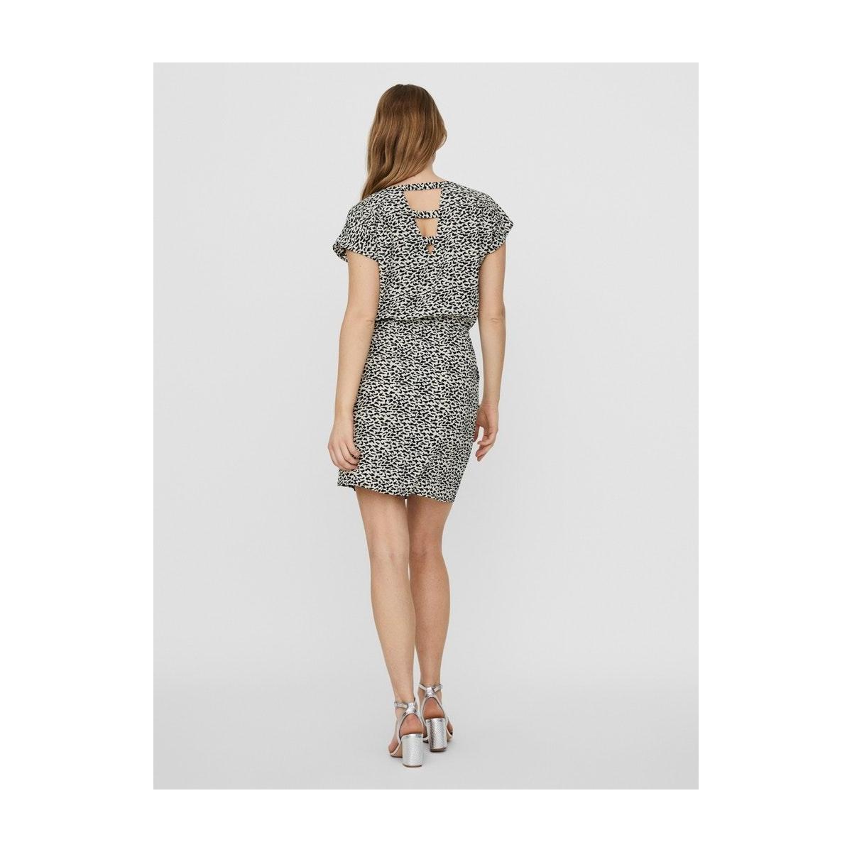 vmsasha bali ss short dress aop 10229237 vero moda jurk night sky