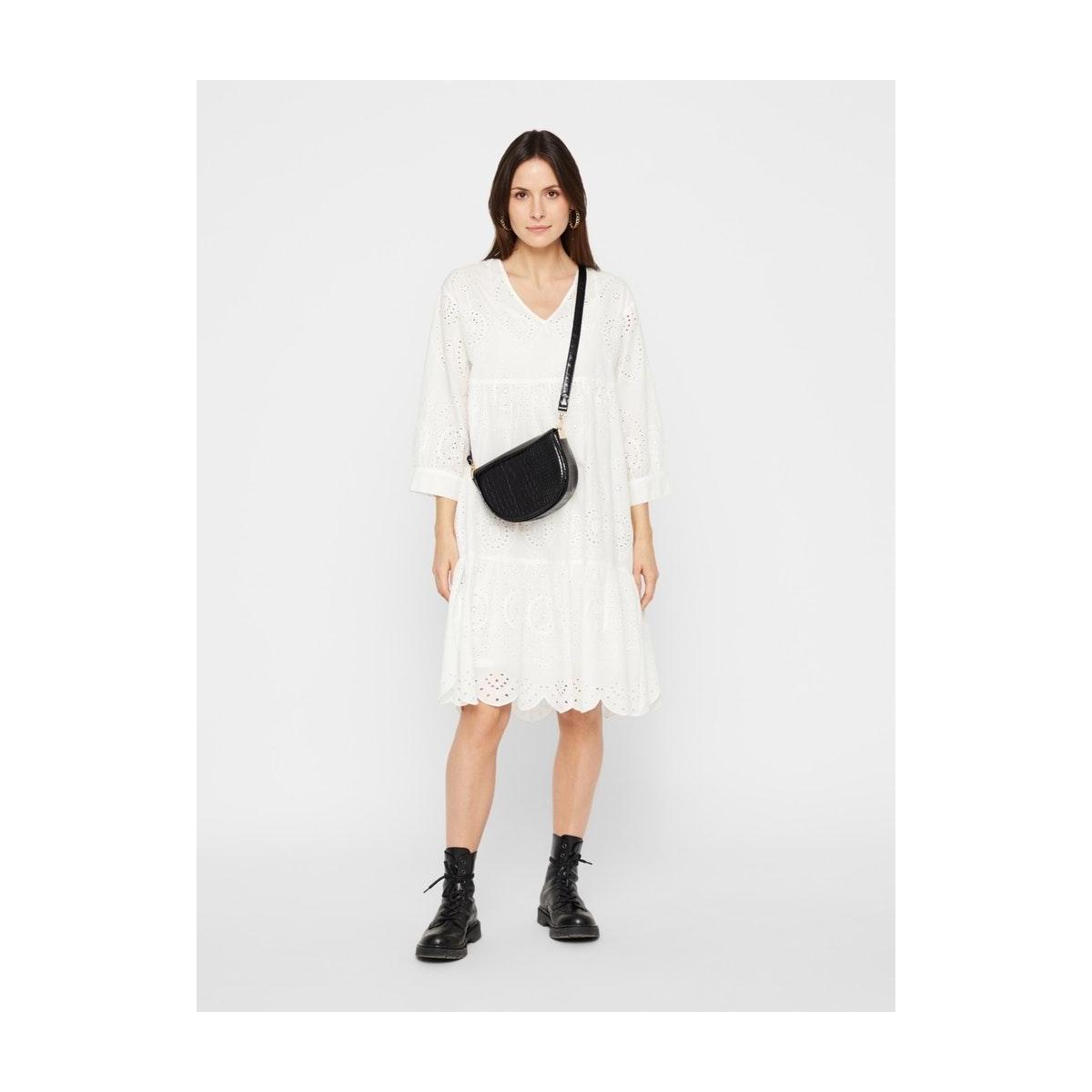pcallegory 3/4 dress bc 17103842 pieces jurk cloud dancer