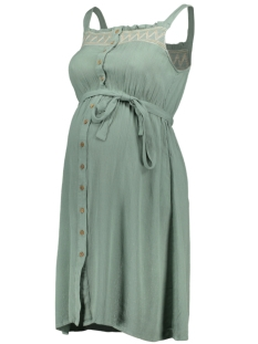Mama-Licious Positie jurk MLHAILEY LIA S/L WOVEN ABK DRESS NF 20011005 GREEN BAY/ SMOCK MULT