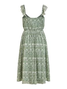 vidaisy midi dress/dc 14057569 vila jurk green milieu/aop dot