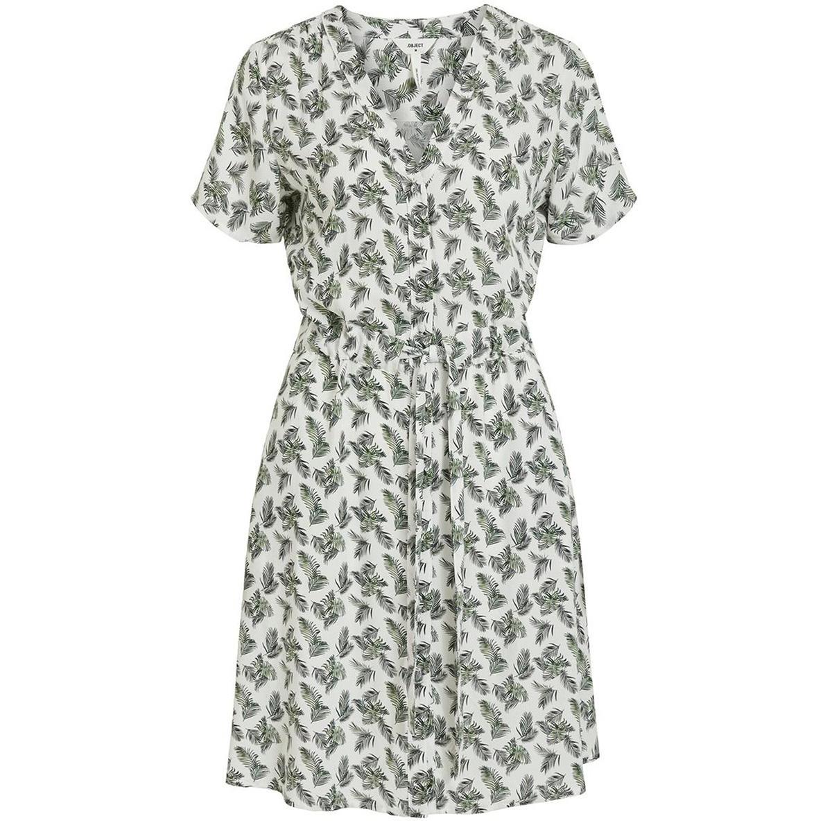 objceleste ss short dress 109 23032770 object jurk cloud dancer