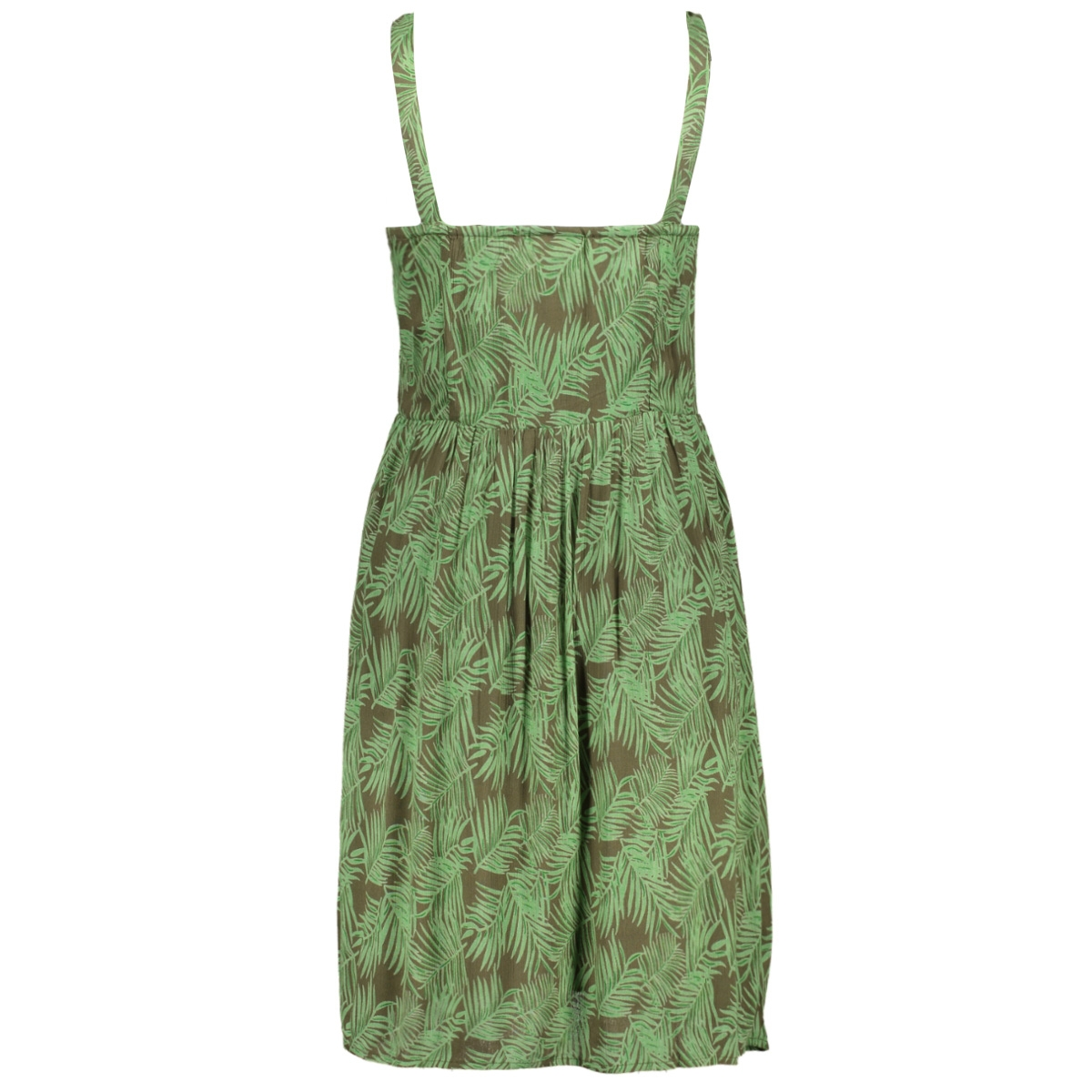 nmflora strap dress 27012114 noisy may jurk kalamata/green ash