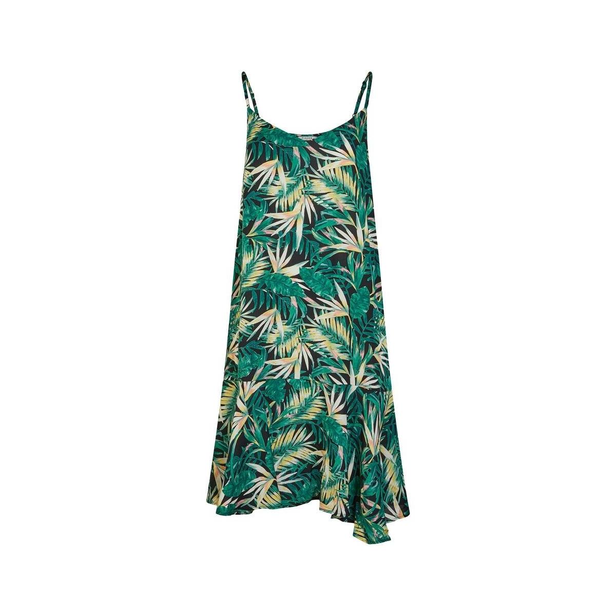 pcnya slip dress pb 17102735 pieces jurk black/palm
