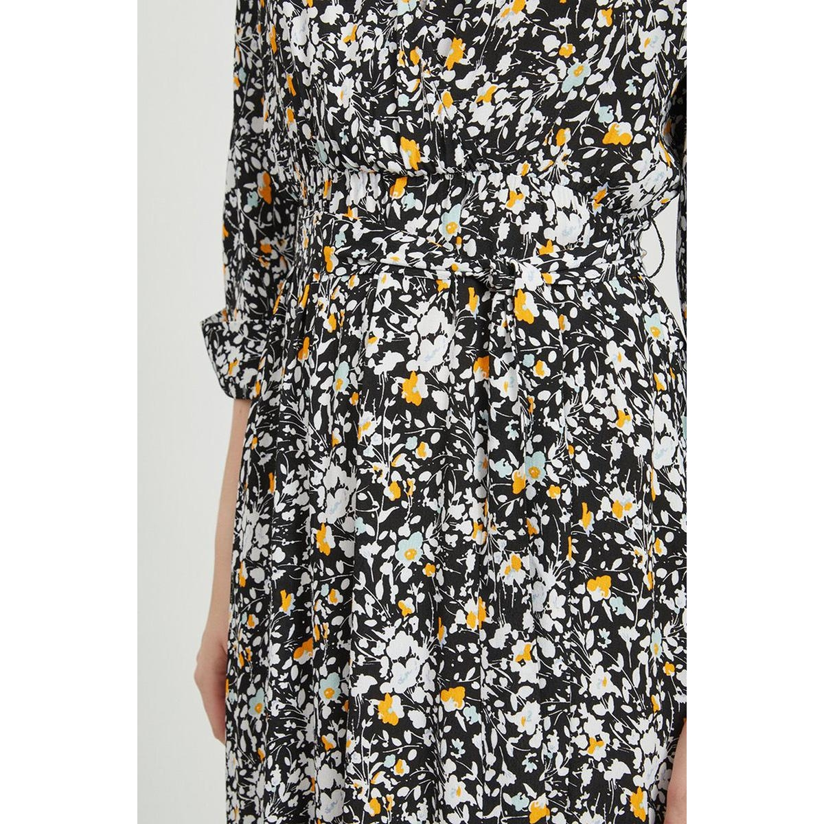 objbarb nanni 3/4 long  dress 108 23032411 object jurk black/flower