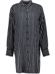 shirt dress stripes 20 336 0202 10 days jurk dark grey blue