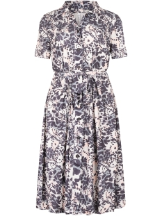 stacey printed button dress 202 zoso jurk blue tones