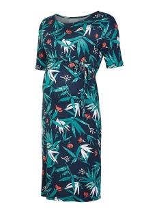 Mama-Licious Positie jurk MLPAYTON 2/4 JERSEY ABK DRESS 20009813 Navy Blazer/SPICED COR