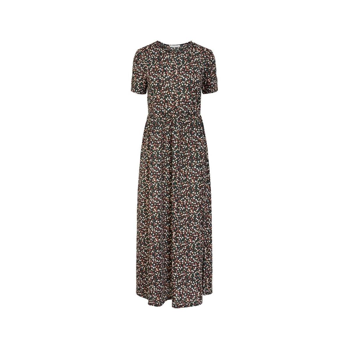 pcameline ss ankle dress 17103931 pieces jurk black/black