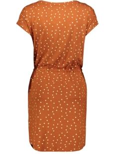 onlmanya s/s dress jrs 15217787 only jurk ginger bread/gold foil