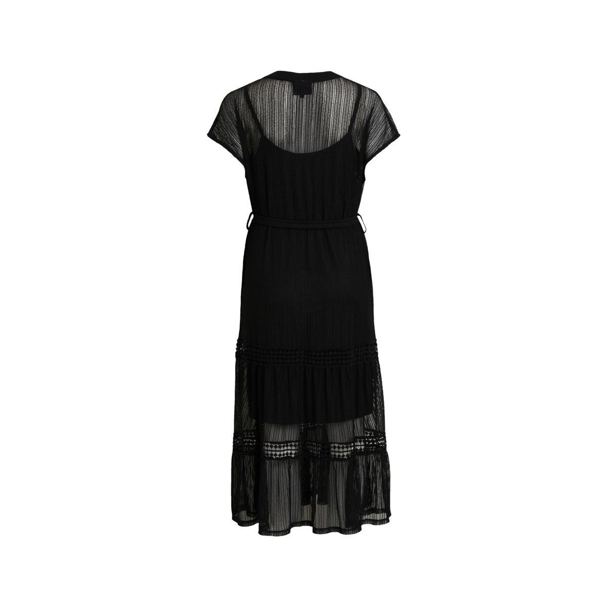 objtutsie s/s dress rep 23028926 object jurk black