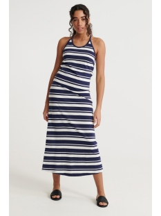 Superdry Jurk SUMMER STRIPE MAXI DRESS W8010132A ATLANTIC NAVY
