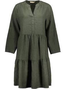 Smith & Soul Jurk LINEN TURN UP DRESS 0320 0432 708 FOREST