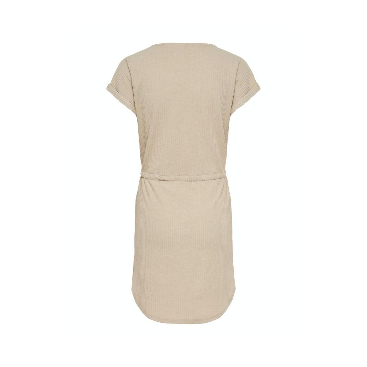 onljulia s/s string dress jrs 15216695 only jurk feather gray