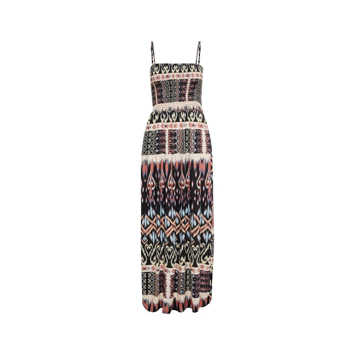 jdytravis life strap maxi dress wvn 15201278 jacqueline de yong jurk black/ikat