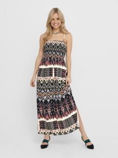 Jacqueline de Yong Jurk JDYTRAVIS LIFE STRAP MAXI DRESS WVN 15201278 Black/IKAT