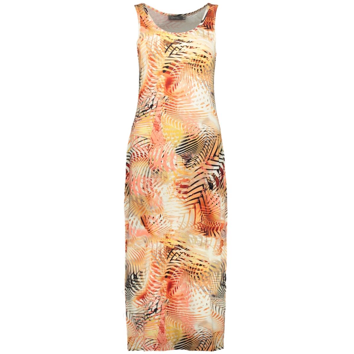 dress sleeveless river 07043 60 geisha jurk salmon multi