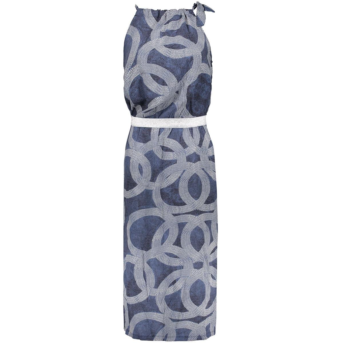 dress halter aop circle 07046 40 geisha jurk blue