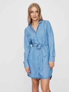 Vero Moda Jurk VMLISA LS BELT SHIRT DRESS GA 10225404 Light Blue Denim
