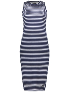 Superdry Jurk LILY CROCHET DRESS W8010194A NAVY STRIPE