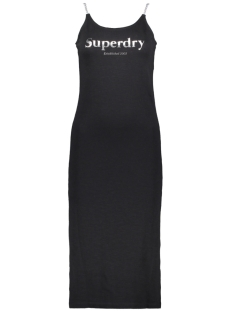 Superdry Jurk URBAN BODYCON DRESS W8010210A BLACK