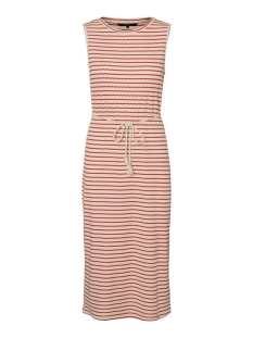 vmoya sl calf dress jrs ga 10230555 vero moda jurk birch/aurora red
