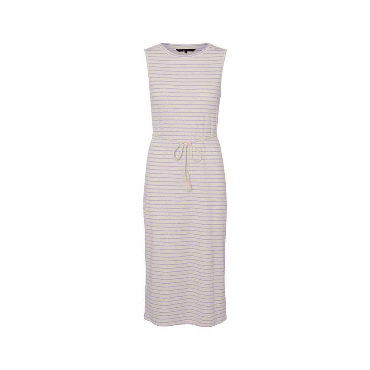 vmoya sl calf dress jrs ga 10230555 vero moda jurk birch/pastel lil