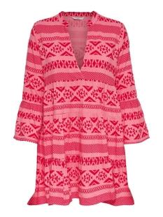 Only Jurk ONLLUCCA ATHENA 3/4 DRESS WVN 15204727 Pink Lemonade/GRAPHIC 2