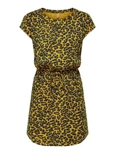 ONLMAY S/S AOP DRESS JRS 15205072 Golden Spice/LEO