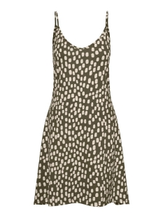 Vero Moda Jurk VMDIDDEADRIANNE SL SHORT DRESS JRS 10227625 Ivy Green/BIRCH DOT
