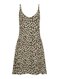 vmdiddeadrianne sl short dress jrs 10227625 vero moda jurk ivy green/birch dot
