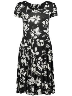 flair dress flower 3220 iz naiz jurk black/white