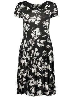IZ NAIZ Jurk FLAIR DRESS FLOWER 3220 BLACK/WHITE