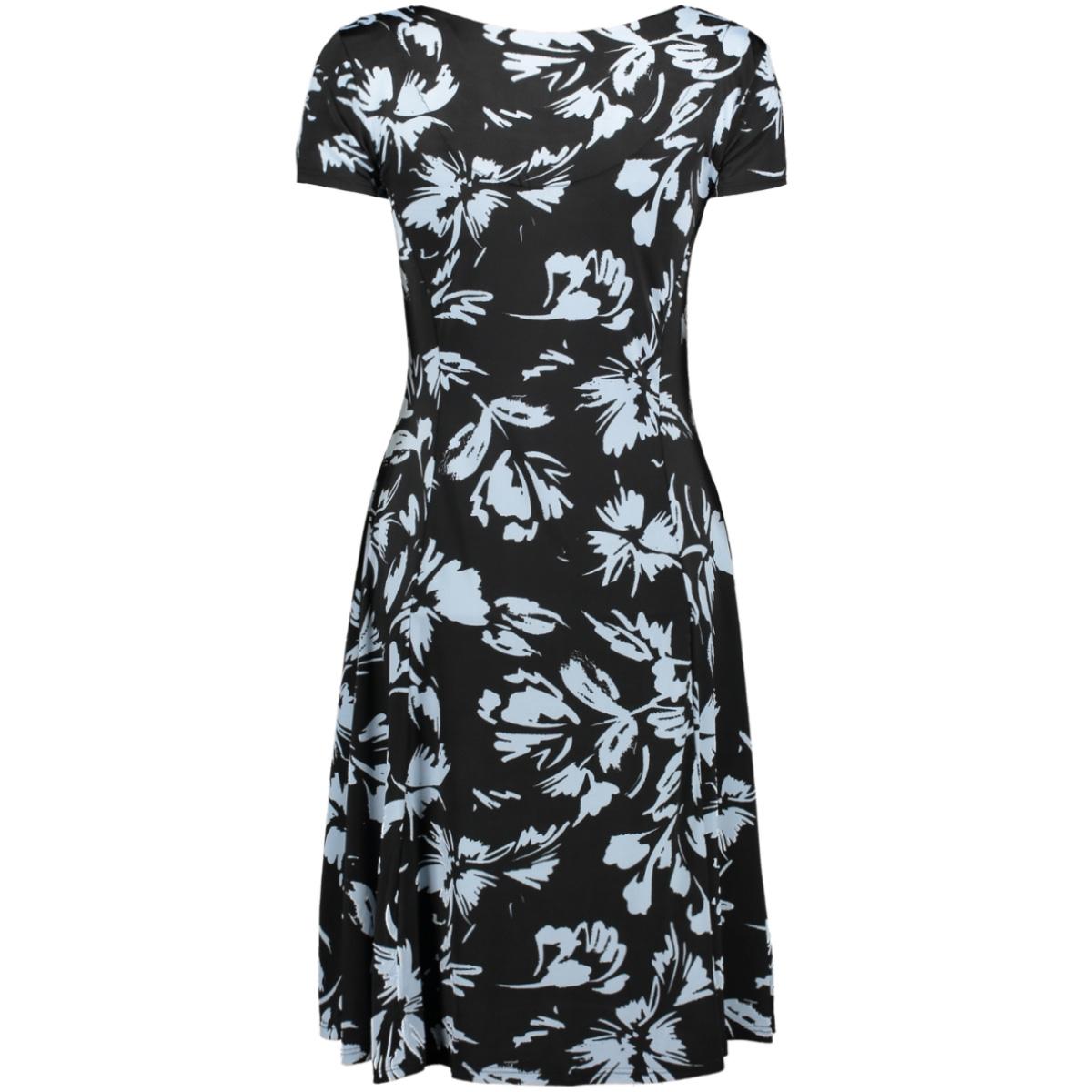 flair dress flower 3220 iz naiz jurk black/blue