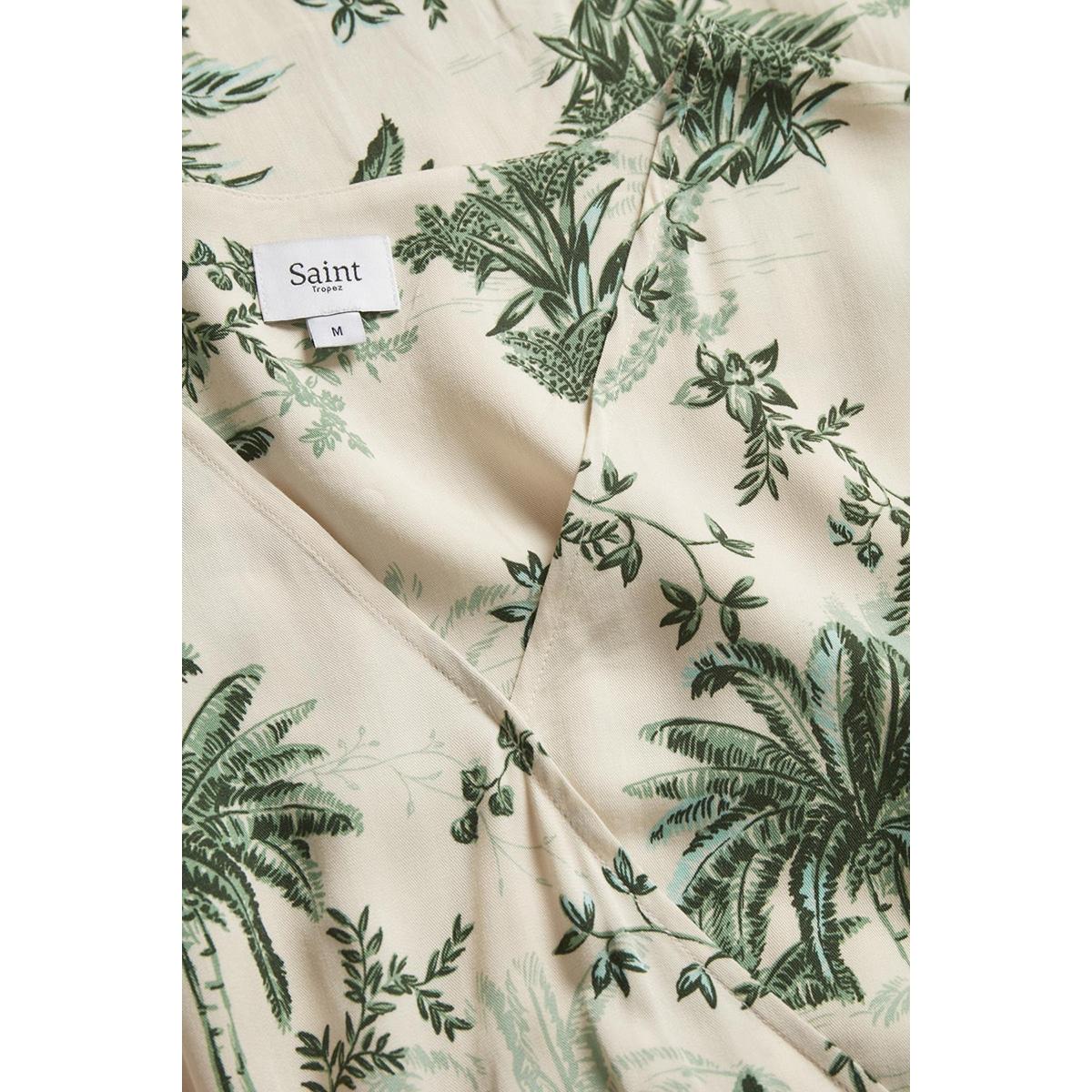adasz ss dress summer palm print 30510308 saint tropez jurk 131308 creme