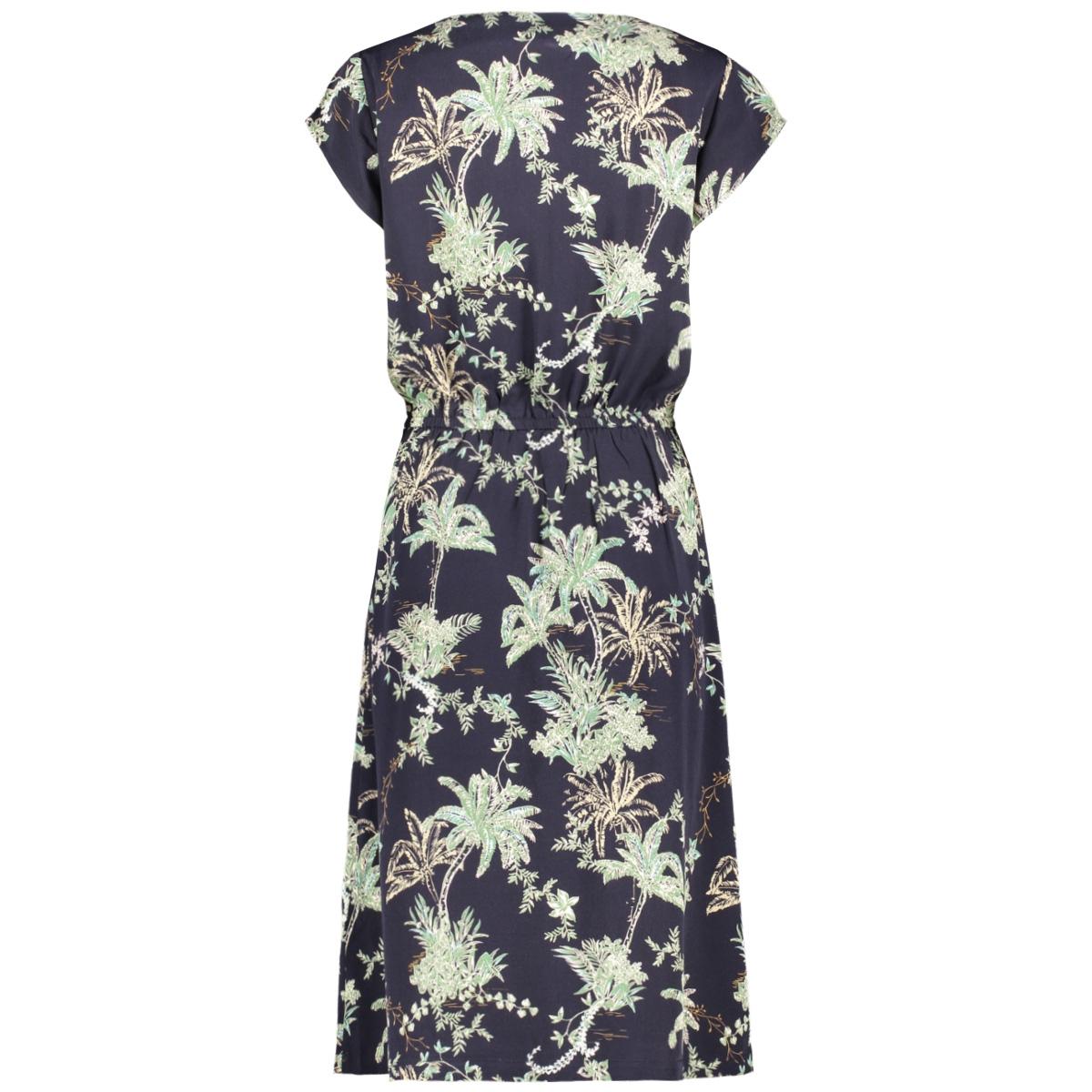 adasz ss dress summer palm print 30510308 saint tropez jurk 600122 blue summer pal