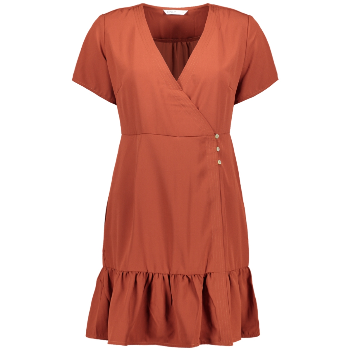 onlalice 3/4 dresswvn 15208084 only jurk burnt henna