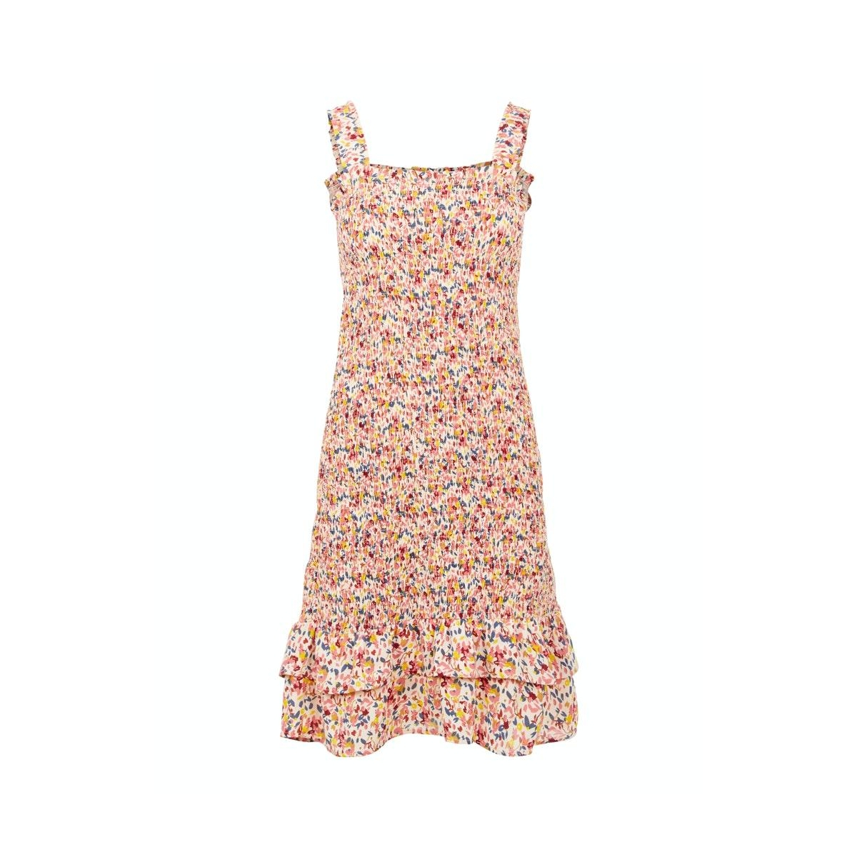 pcmayrin smock strap dress 17106281 pieces jurk misty rose/flower lea