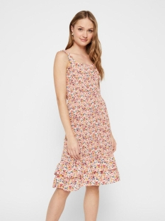 Pieces Jurk PCMAYRIN SMOCK STRAP DRESS 17106281 Misty Rose/FLOWER LEA