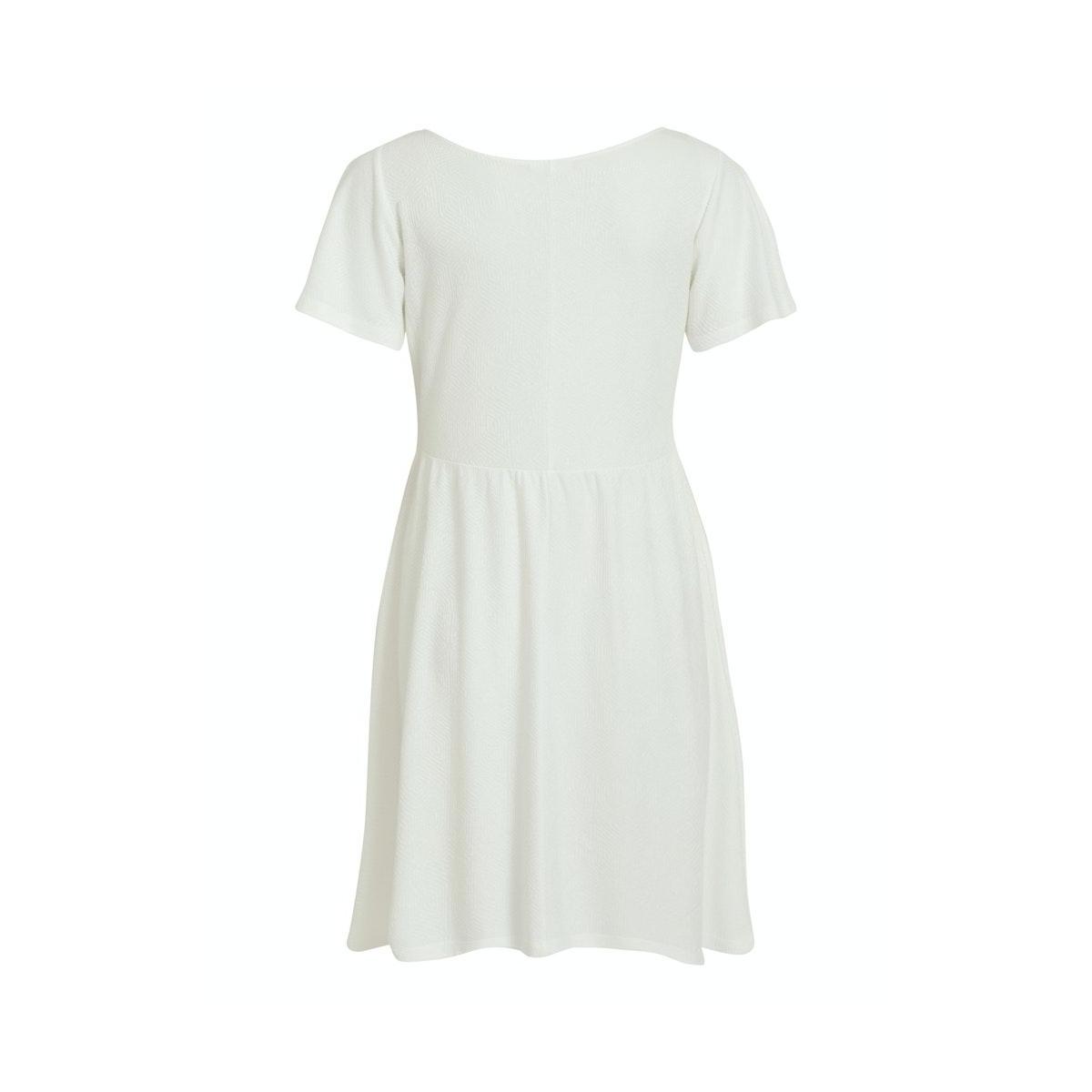 vimoana s/s  dress 14057404 vila jurk cloud dancer